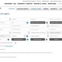 Registro de la promocion Samsung de televisores